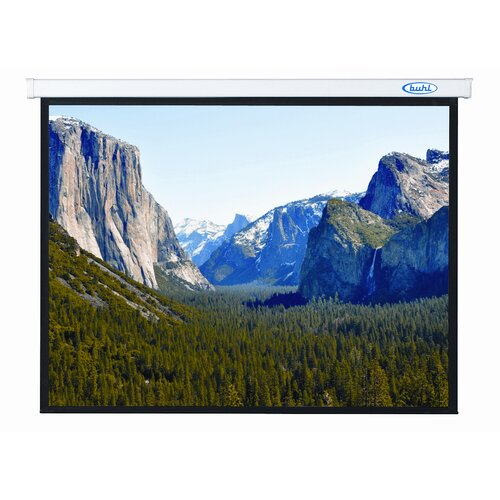 "Buhl Innsbruck Matte White 99"" Electric Projector Screen"