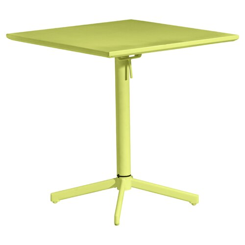 "dCOR design Big Wave 27.6"" Square Folding Table"