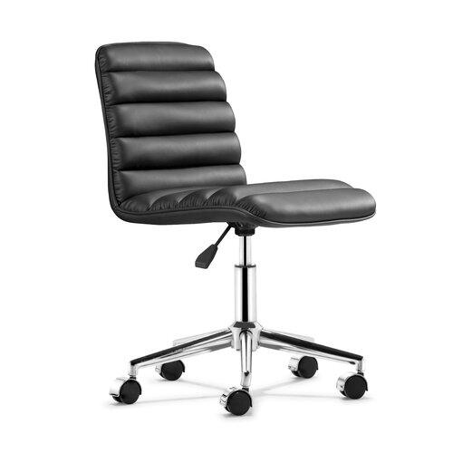dCOR design Mid-Back Leather Admire Leatherette Office Chair