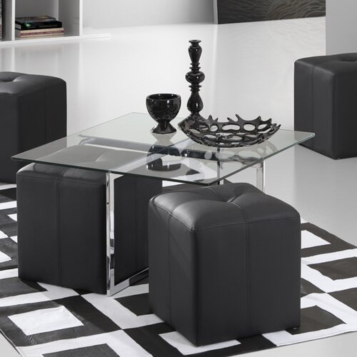 dCOR design Botero Coffee Table with Stools