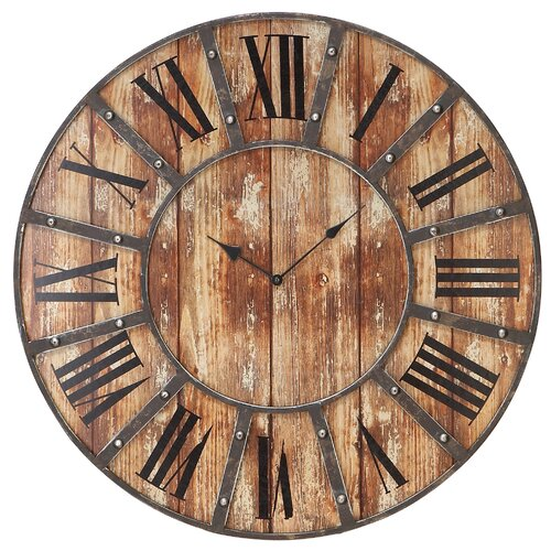 Woodland imports metal oversized wall clock reviews Oversized metal wall clocks