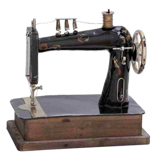 Woodland Imports Metal Sewing Machine Figurine