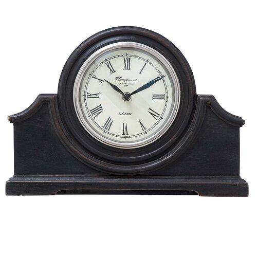 Woodland Imports Modern Wood Table Clock