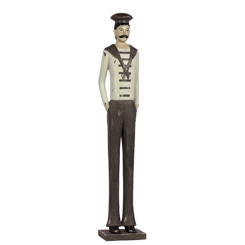 Woodland Imports Classy Thin and Lanky Standing Male Sailor Statue