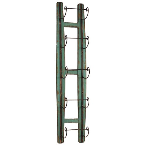 Woodland Imports Ladder Shaped Trendy Wine Holder