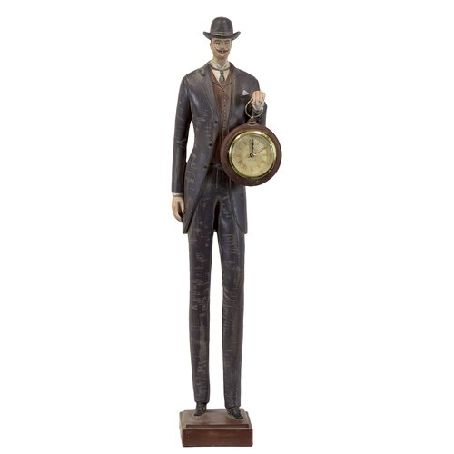 Fantastic Man with Clock Statue