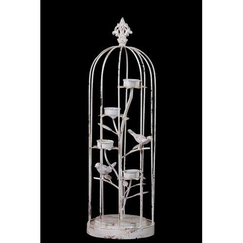 Antique Decor Bird Cage Statue