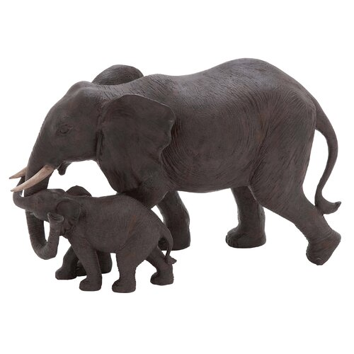 Woodland Imports Mother and Baby African Elephant Statue