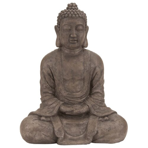 Woodland Imports Polystone Table Top Buddha Sculpture