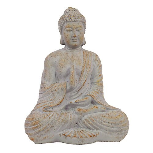 Oriental Sitting Empathetic Cement Buddha Statue