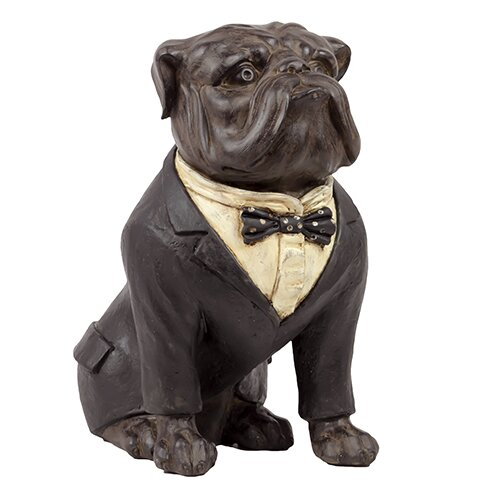 Resin Bull Dog with Boe Tie Statue