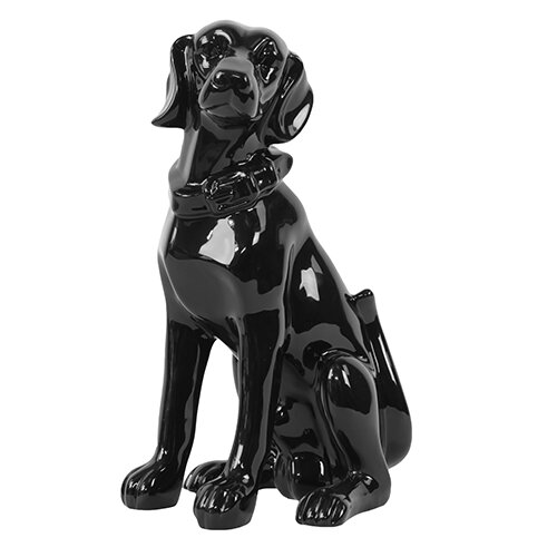 Woodland Imports Sitting Dog Statue