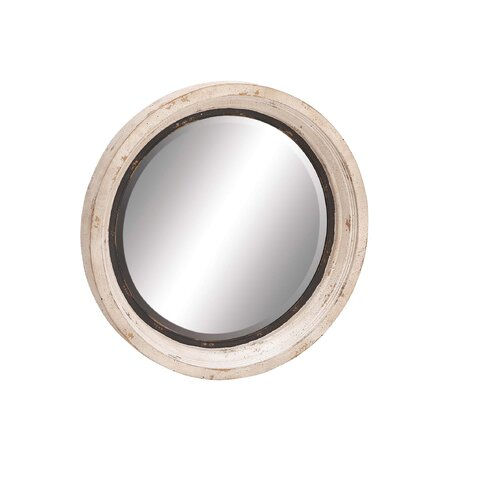 The Unadorned Wood Metal Wall Mirror