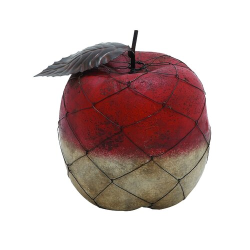 Woodland Imports Abstract Styled Fascinating Terracotta Apple