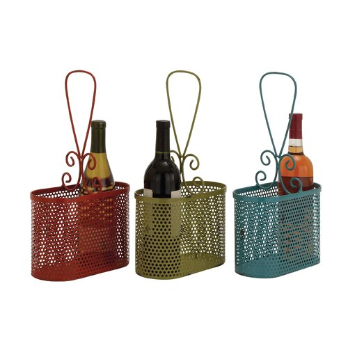 The Lovely Metal Wine Basket (Set of 3)