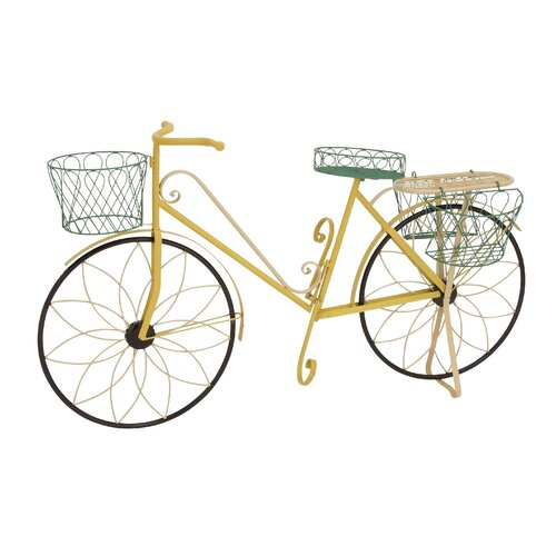 Woodland imports metal bike plant stands and pedestals - Bicycle planter stand ...