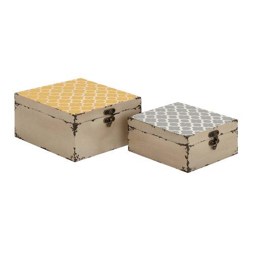 Vintage 2 Piece Square Box Set