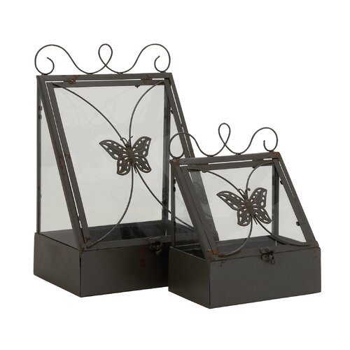 2 Piece Terrarium Planter Set