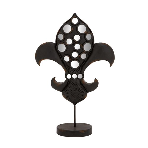 Decorative The Historic Metal Mirror Fleur Di Lis