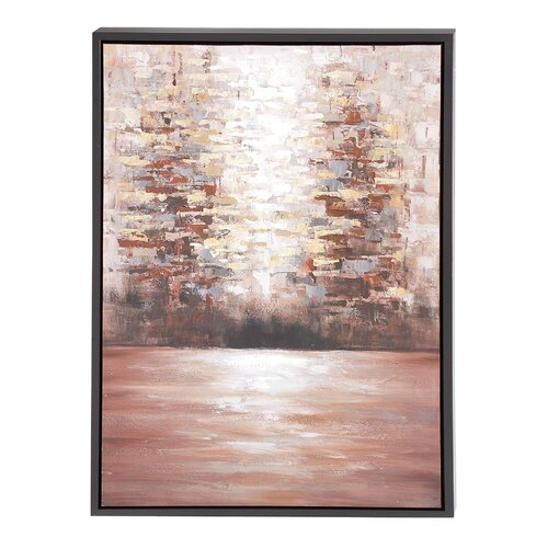 The Mysterious Wood Framed Graphic Art Canvas