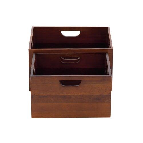 2 Piece The Sleek Wood Crate Set