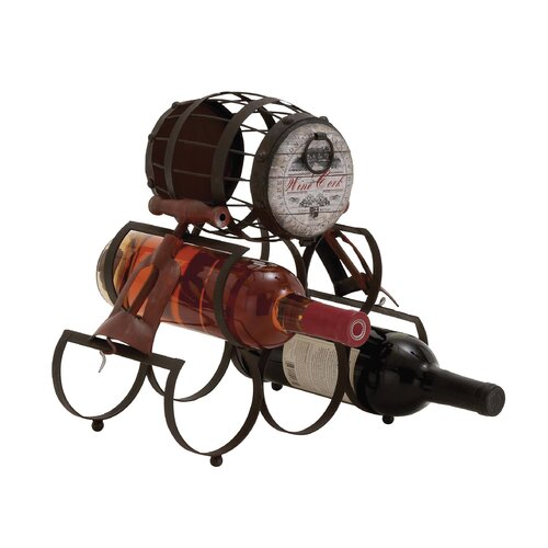 Unique Barrel Themed Antique Wine Holder