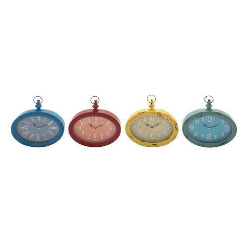 The Oval Metal Wall Clock (Set of 4)