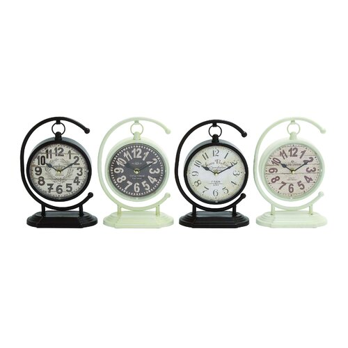 Creative 4 Piece Globe Styled Metal Desk Clock Set