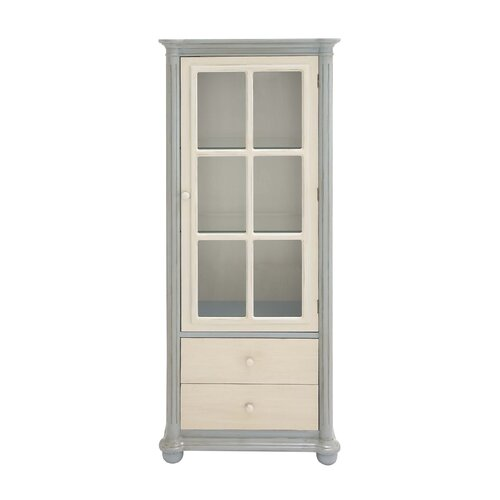 Elegant Wood / Glass Cabinet with Drawer