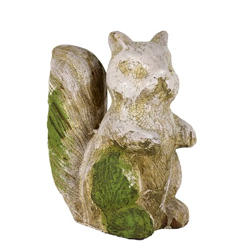 Sweet and Lovely Stoneware Squirrel Statues