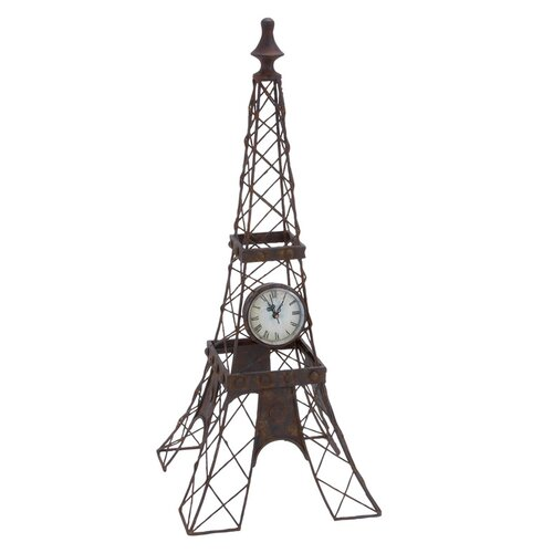 Eiffel Tower Tabletop Clock