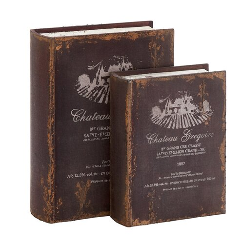 'Chateau Gregoire' 2 Piece Wooden Book Box Set