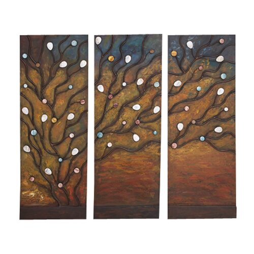 3 Piece Original Painting Plaque Set