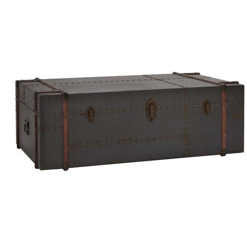 Woodland imports antique trunk coffee table reviews - Antique trunk coffee table ...