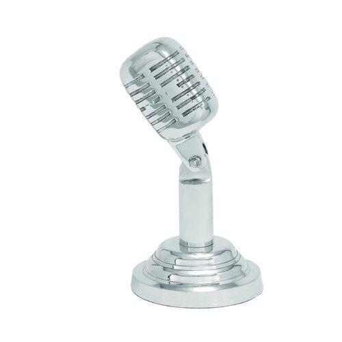 Woodland Imports Aluminum Microphone Statue