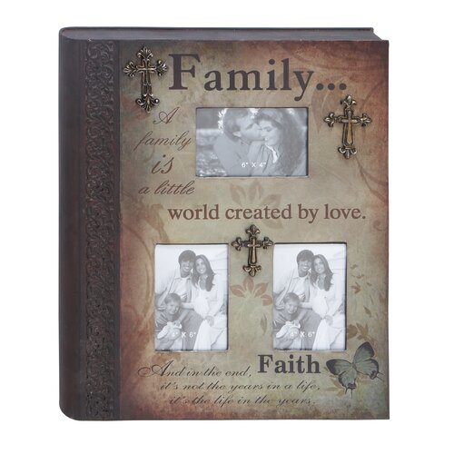 Metal 'Family' Book Picture Frame