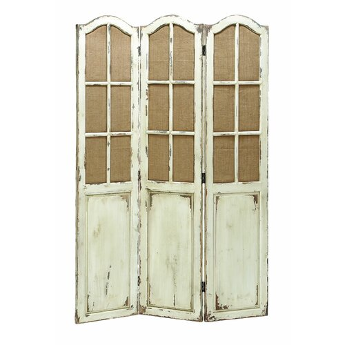 Woodland imports 71 x 48 folding 3 panel room divider revie - 3 panel screen room divider ...