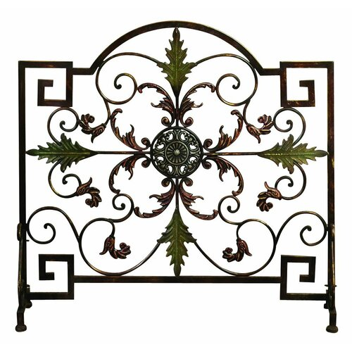 Single Panel Metal Fireplace Screen