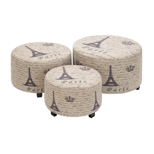 Woodland Imports Handcrafted Accent Ottoman
