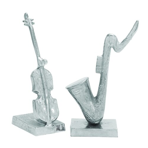 Woodland Imports 2 Piece Assorted Aluminum Statue