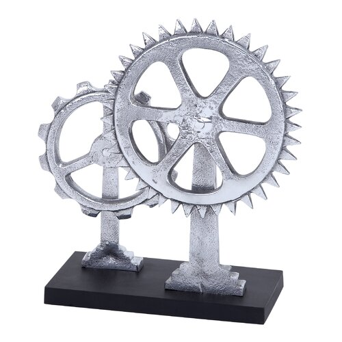 Woodland Imports Aluminum Gear Décor Sculpture