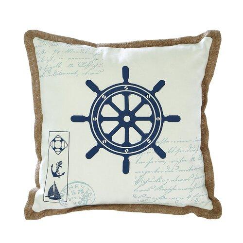 Woodland Imports Ship Wheel Pillow