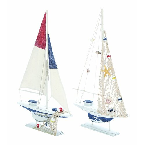 Woodland Imports 2 Piece Sailing Model Boat Set