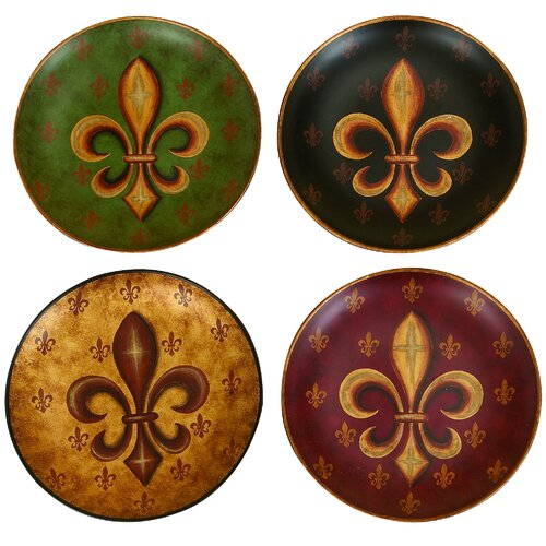Decorative Ceramic Plate (Set of 4)