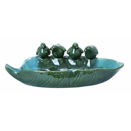 Woodland Imports Attractive Ceramic Bird Basin