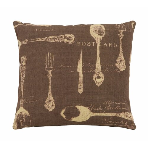 Woodland Imports Paris Dining Theme Pillow