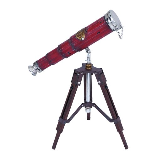 Woodland Imports Free Standing Decorative Telescope