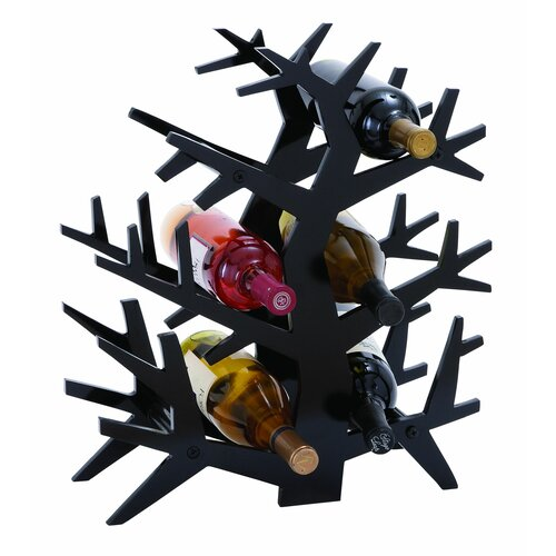 Woodland Imports Tree Branch 6 Bottle Tabletop Wine Rack