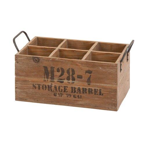 Woodland Imports 6 Bottle Tabletop Wine Box