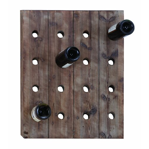 Woodland Imports 16 Bottle Hanging Wine Rack